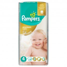 PAMPERS Premium Care No4 (8-14kg) 52 πάνες