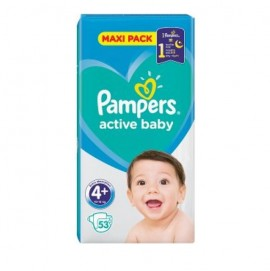 Pampers Active Baby Maxi Pack No.4+ (9-16Kg) 66τμχ