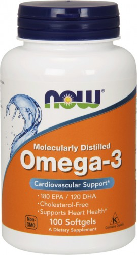 NOW Omega-3 1000mg 100 μαλακές κάψουλες