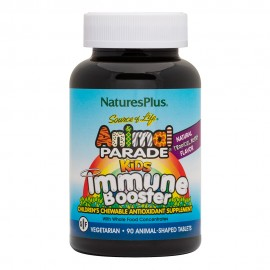 NaturesPlus Animal Parade Kids Immune Booster 90 Chewable - Tropical Berry Flavor