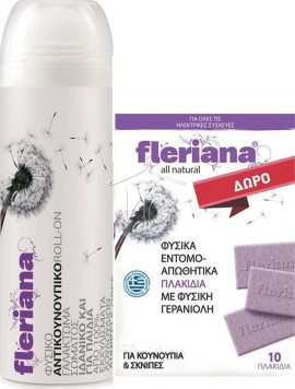 POWER HEALTH Fleriana Roll-on 100ml+ ΔΩΡΟ 10 Fleriana Πλακίδια