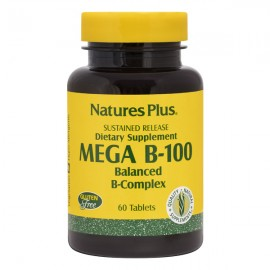 NaturesPlus Mega B-100 60 Sustained Release Tablets