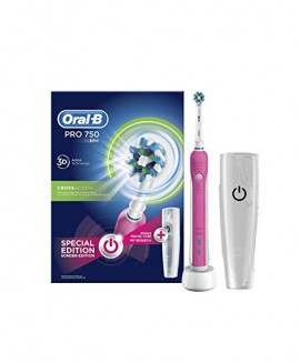 Oral-B Pro 750 Pink Edition 3D Cross Action +ΘΗΚΗ