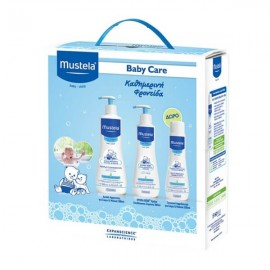 Mustela Gentle Clenasing Gel 500ml & Hydra Bebe Body Lotion 300ml & Multi Sensory Bubble Bath 200ml