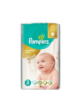 PAMPERS Premium Care No3 (5-9kg) 60πάνες