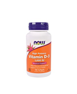NOW Vitamin D3 1000IU gels 180 softgels