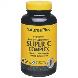 NaturesPlus Super C Complex 1000 mg w/500 mg Bioflavonoids 60 Sustained Release Tablets